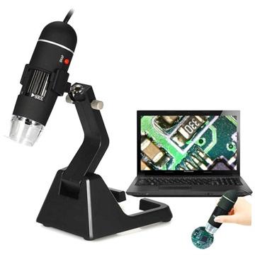 Microscopio digitale USB portatile 25X 600X con supporto