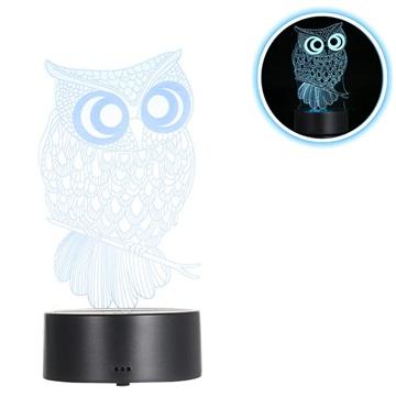 Premium 3D Lampada a LED / Lampada da notte 3W Gufo