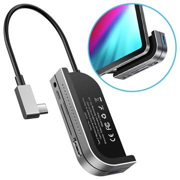 Baseus GN39F Multifunctional USB C Hub Dark Grey