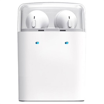 Auricolare Bluetooth Senza Fili Tws Dacom Con Caricabatterie Portatile Bianco