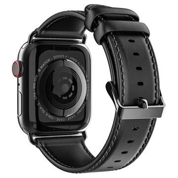 Dux Ducis Apple Watch Series 4/3/2/1 Leather Strap 42mm, 44mm Black