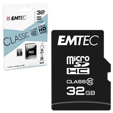 Scheda di Memoria Emtec Classic Class 10 MicroSD ECMSDM32GHC10CG 32GB
