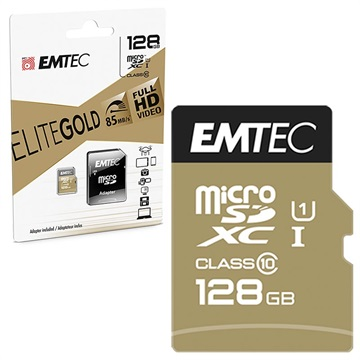 Scheda di Memoria Emtec Elite Gold UHS I U1 MicroSD ECMSDM128GXC10GP 128GB