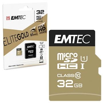 Scheda di Memoria Emtec Elite Gold UHS I U1 MicroSD ECMSDM32GHC10GP 32GB