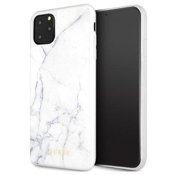 Custodia Ibrida Collection Guess Marble per iPhone 11 Pro Max Bianco