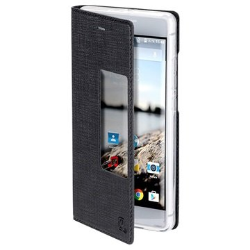 Custodia Smart Cover 4smarts Basic Chelsea per Huawei P9 Plus - Nera