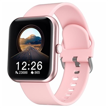 IdeaPro i8 Smartwatch with Blood Pressure and Oxygen Sensor Pink