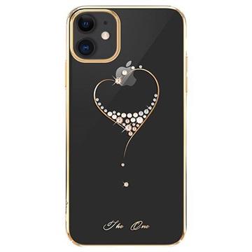 Custodia Swarovski Kingxbar Serie Wish per iPhone 11 Color Oro