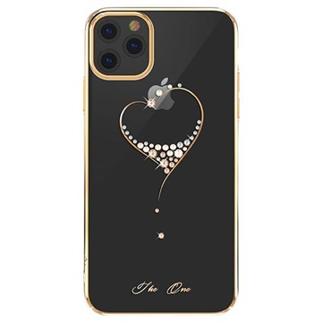 Custodia Swarovski Kingxbar Serie Wish per iPhone 11 Pro Max Color Oro
