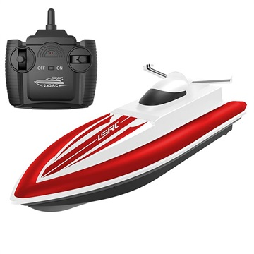 LSRC Remote Control Speedboat with Rechargeable Battery Red