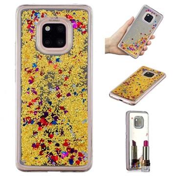 Liquid Glitter Series Huawei Mate 20 Pro TPU Case Gold