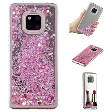 Liquid Glitter Series Huawei Mate 20 Pro TPU Case Pink