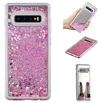 Liquid Glitter Series Samsung Galaxy S10+ TPU Case Pink