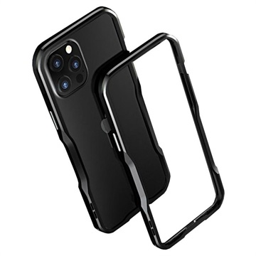 Luphie Bumper Metallico per iPhone 12/12 Pro Nero