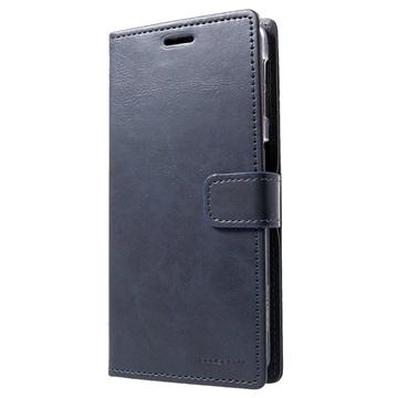 Samsung Galaxy A7 (2018) Mercury Blue Moon Wallet Case Blue