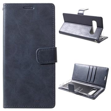 Mercury Goospery Blue Moon Samsung Galaxy S10 Wallet Case Dark Blue