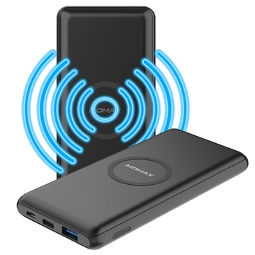 Momax Q.Power Minimal Wireless Power Bank 10000mAh Black