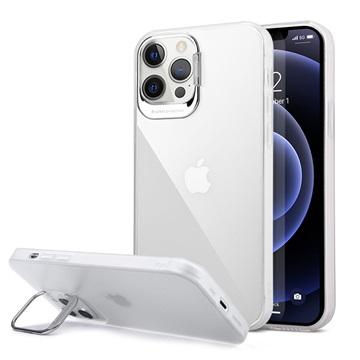 Custodia Ibrida per iPhone 12 Pro Max con Supporto Nascosto Bianco / Trasparente