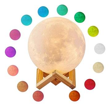 RGB LED Moon Lamp / Luce Notturna YK2302 15cm, 1000mAh