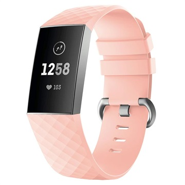 Fitbit Charge 3 Silicone Wristband with Connectors Pink
