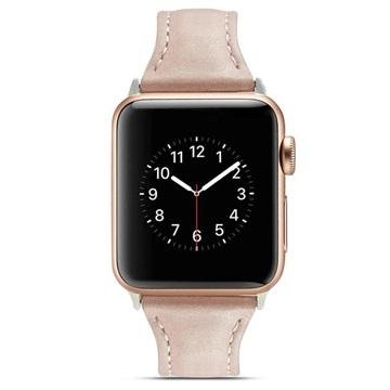 Apple Watch Series 4/3/2/1 Slim Leather Strap 44mm, 42mm Pink