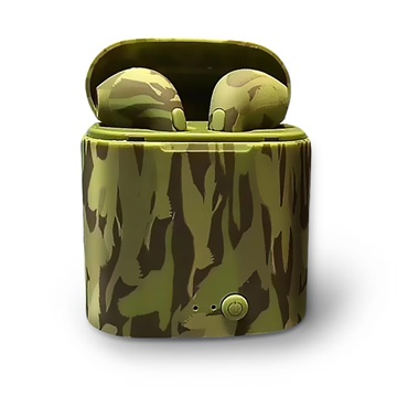 Auricolare Senza Fili Elegante i7S TWS con Caricabatterie Camouflage