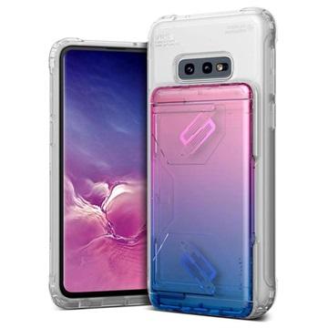 VRS Damda Shield Clear Samsung Galaxy S10e Case Pink / Blue