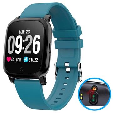 Waterproof Bluetooth Smartwatch w/ IR Thermometer CV06 Blue