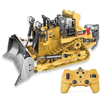 XZS 258 8 RC Bulldozer with Rechargeable Battery Yellow