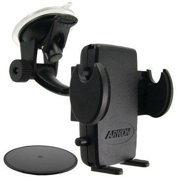 Supporto universale Arkon Mega Grip da auto con ventosa Nero