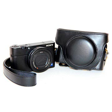 Custodia per Fotocamera Sony Cyber shot DSC RX100 Mark III, Mark IV Nero
