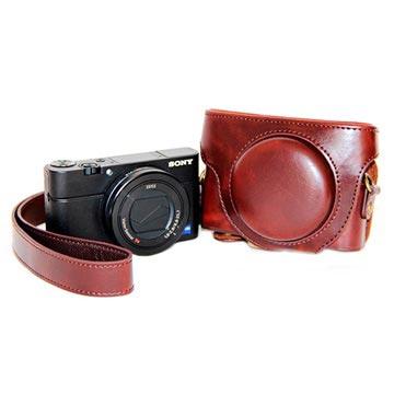 Custodia per Fotocamera Sony Cyber shot DSC RX100 Mark III, Mark IV Color Caffé