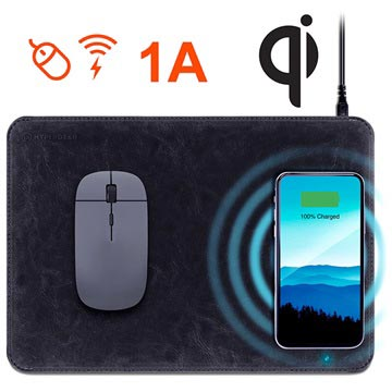 HyperGear Qi Wireless Charging Mouse Pad Black