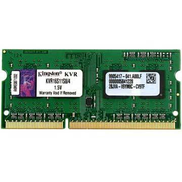 Kingston ValueRAM KVR16S11S8/4 1600MHz SO DIMM DDR3 RAM Memory 4GB