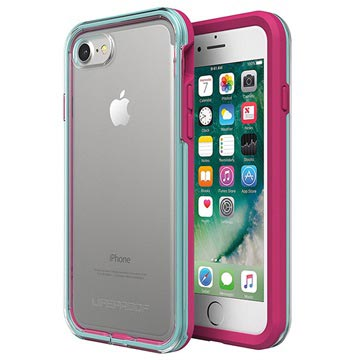 Cover LifeProof Slam per iPhone 7 / iPhone 8 Rosa Neon / Blu