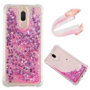 Huawei Mate 10 Lite Liquid Glitter Case Pink