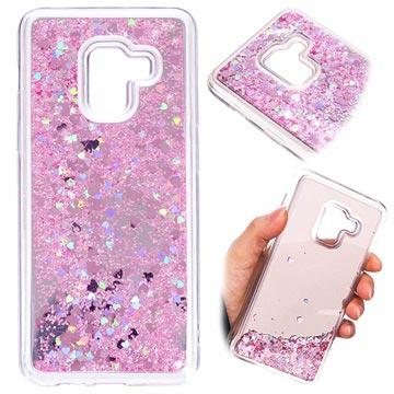 Samsung Galaxy A8 (2018) Liquid Glitter Case Pink