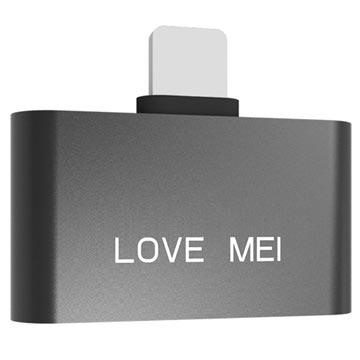 Adattatore Lightning Love Mei per iPhone X/8/8 Plus Nero