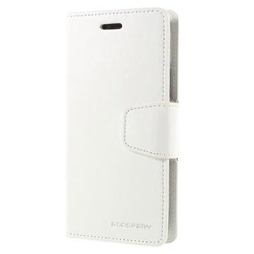 Custodia a Portafoglio Mercury Goospery Sonata Diary per iPhone X / iPhone XS Bianca