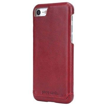 Custodia Pierre Cardin Rivestita in Pelle per iPhone 7 / iPhone 8 - Vino Rosso