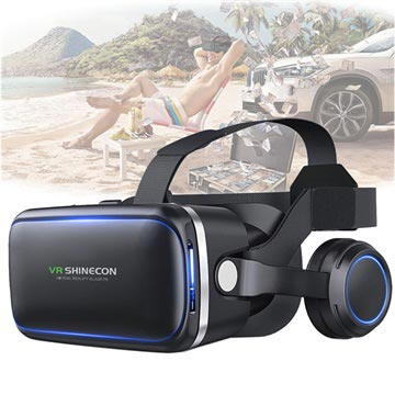 Shinecon 6 Generation G04E 3D VR Virtual Reality Glasses with Earphones