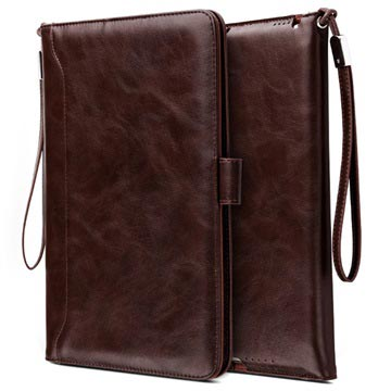 Smart Flip Case with Hand Strap iPad 9.7 2018, iPad Air 2, iPad Air Coffee