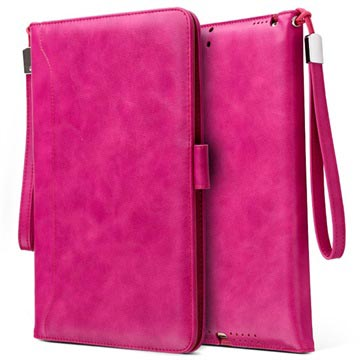 Smart Flip Case with Hand Strap iPad 9.7 2018, iPad Air 2, iPad Air Hot Pink