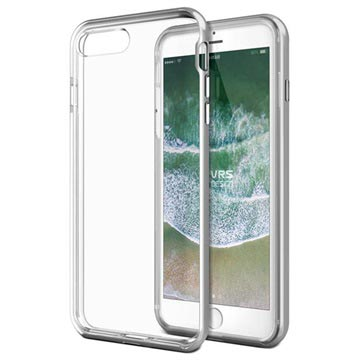 Custodia VRS Design New Crystal Bumper per iPhone 7 Plus / 8 Plus Color Argento