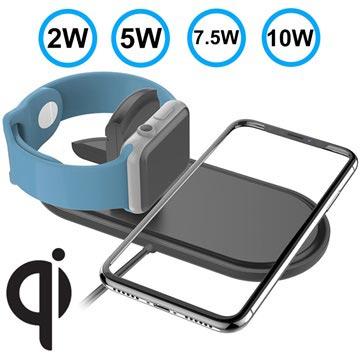 Fast Qi Wireless Charging Pad W22 10W Black