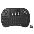 2.4Ghz Wireless Mini Keyboard with Touchpad - Black