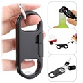 3-in-1 MicroUSB Cable / Keychain / Bottle Opener TS024-B - Black