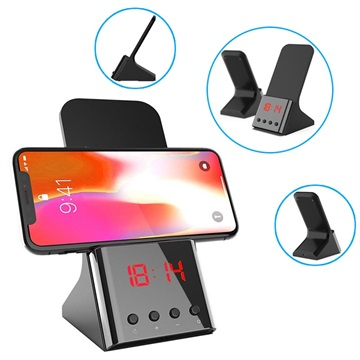 3-in-1 Universal Qi Wireless Charger & Alarm Clock QX900 - 10W