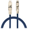 4smarts ComboCord 6-in-1 Cable - Lightning, MicroUSB, Type-C - Blue