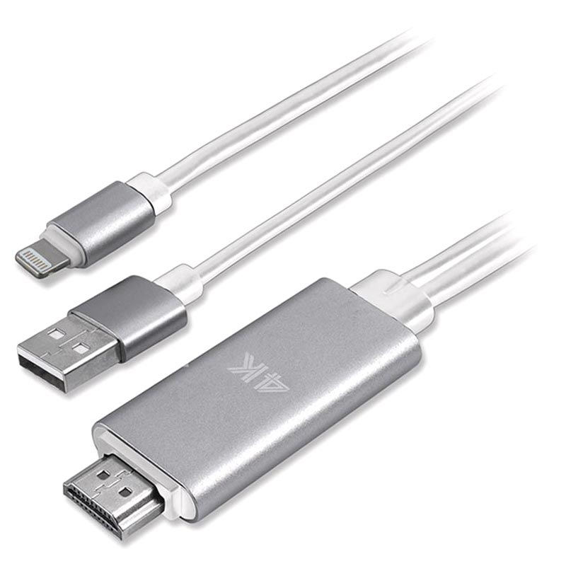 Adattore Lightning / HDMI 4K UHD 4smarts per iPhone, iPad, iPod - 1.8m